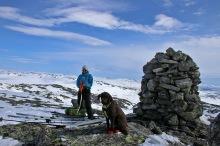 On top of Kvamsfjellet