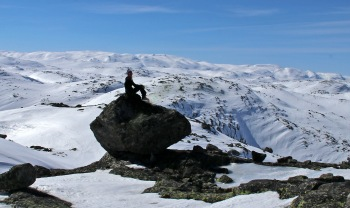 On the north top