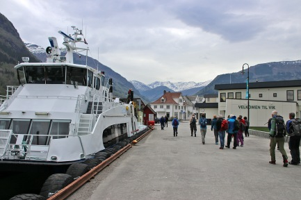 Boarding the boat in Vik