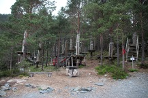"A ""climbing"" park at Nesbø"