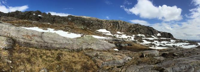 Below the high ridge
