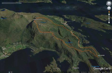 Our route across Haddalshornet