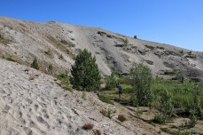 On our way up the sand dunes