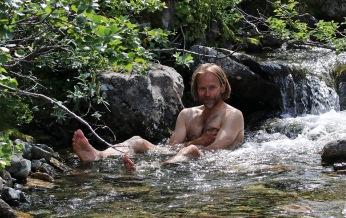 Bath in the creek