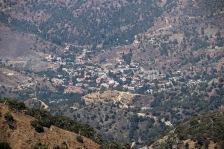 A nearby village