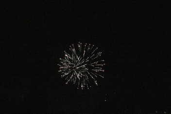 Fireworks, LATE in the evening
