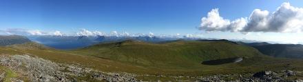 View from Skolma, towards Signalhornet and Sneldelida