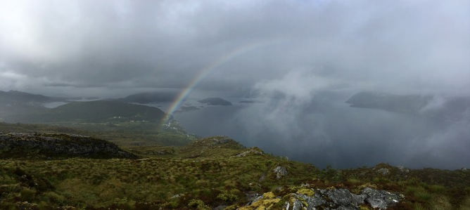Rainbow on the way down