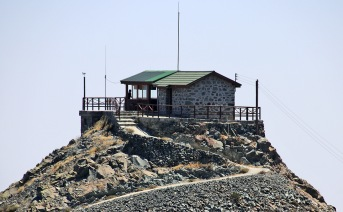 The fire lookout cabin