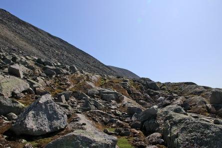 Aiming for the far ridge