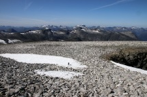 The plateau below the summit