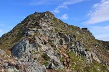 The upper ridge