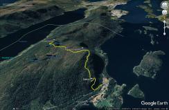 Our route to Rødlandstua
