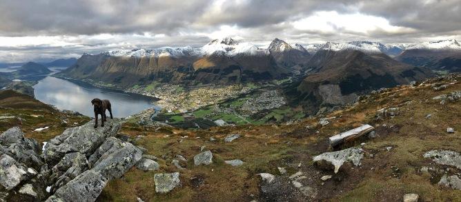 Ørsta view from Saudehornet