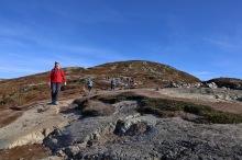 Towards the summit ridge