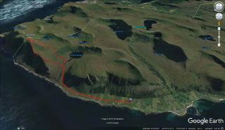 Our route to and from Skolma