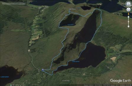 Our route across Garnestua