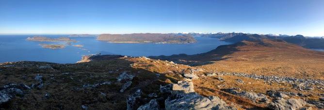 Iphone8 panorama from Nystøylhornet (1/2)