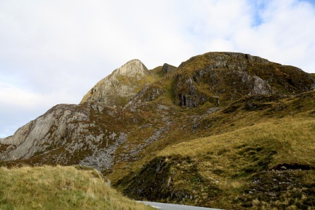 Our ascent route - up these gullies