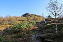 Towards the Grøthornet ridge