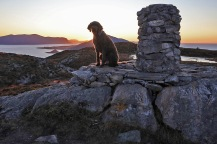 By the viewpoint finder cairn