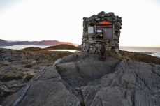 The real summit cairn
