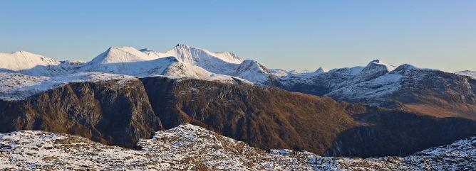 The high Vanylven peaks